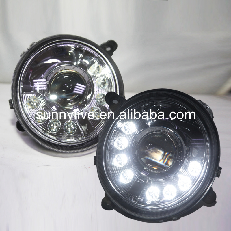 For Jeep Patriot 2011-2014 Head Light LED Angel Eyes Black Housing