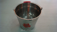 0.5mm thickness stainless steel bucket with handle for water stock