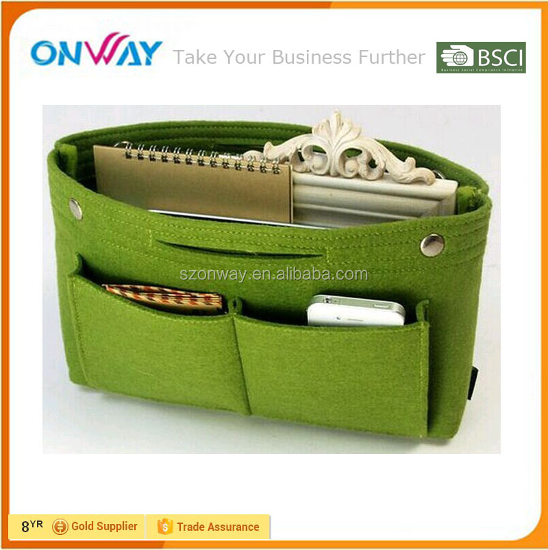 Recycled felt high quality portable office desk organizer