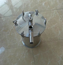 Sanitary Stainless Steel Spool Storage Tank/Barrel/Bucket With Flange Lid