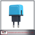 Multi-colour wall charger, 5V 1A micro usb charger/adapter with multi CE,FCC,ROHS,KC certificate