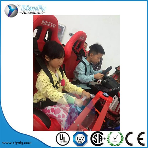 guangzhou dianfu silulator driving real feeling motion car driving simulator with triple screen