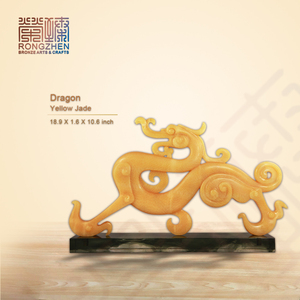 Dragon modern stone sculpture state and stone carving
