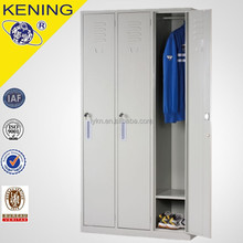 Best Selling Knock-Down 3 Door Metal Cheap Wardrobe Closet