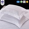FUTING 100% cotton cover compressible hotel head pillow Hotel Bedding White stripes pillow