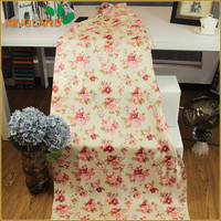 OEM flower printed linen like blackout indian curtain fabric