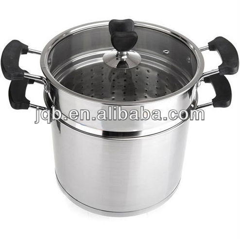 Stainless steel food mirror polish Gas trial steamer pot