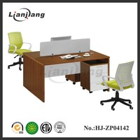 Durable modern t shaped 2 person office desk