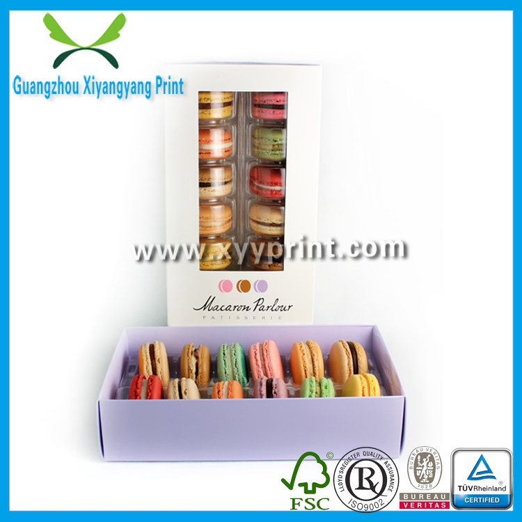 High Quality Paper Cake Box With Handle, Custom Clear Plastic Macarons Box, Wedding Candy Box Wholesale