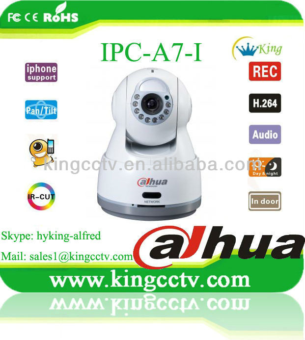 Dahua all in one ip network camera pt ir cctv camera IPC-A7-I VGA Network Cube Camera