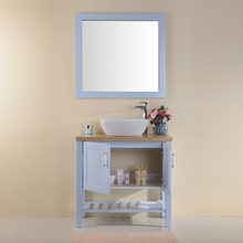Floor Standing 2 Doors 1 Shelf Spanish Tall Wall Mount Bathroom Vanity With Mirror Sink