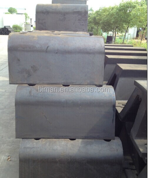 d type rubber fender for tug boat pushing