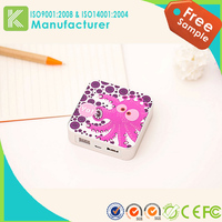 High capacity square power bank for 7800 mah portable power supply