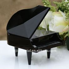 black piano angel shaped crystal