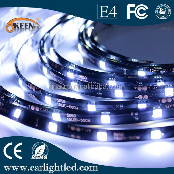 White 5m 5050 SMD LED Strip Waterproof IP65 Outdoor Decoration Flexible Strips Light