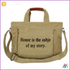 Portable fashion unisex Shoulder Messenger Retro stitching canvas bag