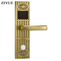 Italy popular SS zinc alloy small panel lever handle lock smart door RFID hotel ET2008RF