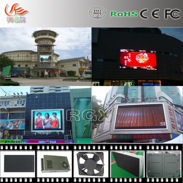 RGX High Brightness DIP Pitch 16mm Outdoor Full Color LED Advertising Displays P16
