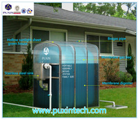 China Brand Puxin Low Cost Family Size Portable Assembly Membrane Biogas Digester