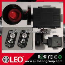 one way vibrating car alarm with window closer output/car alarm systems with optional remote control