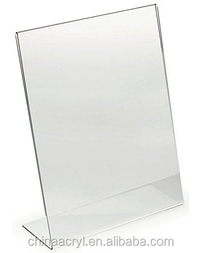 free sample OEM ODM Clear 8.5 x 11 slanted acrylic sign holders