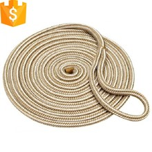 5/8 x 20' Gold White Double Braided Nylon Dock Line Rope For Boat Ship