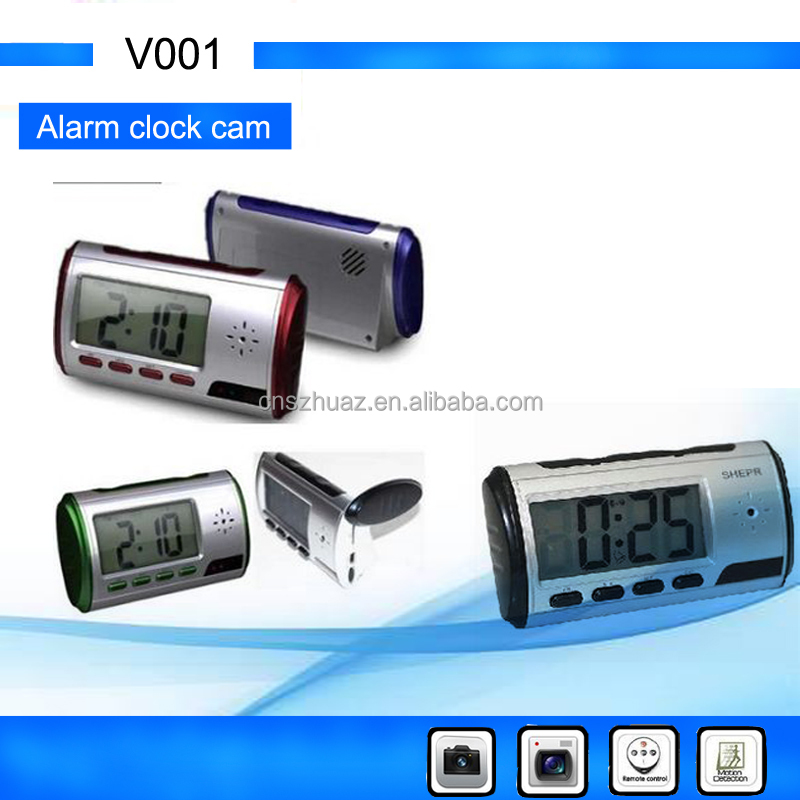 Mini clock Remote Control Camera hidden Digital Video Voice Recorder with SD Card slot video camera