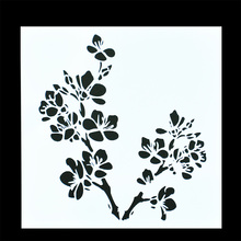 Fashionable customized PET stencil flower decorative stencil