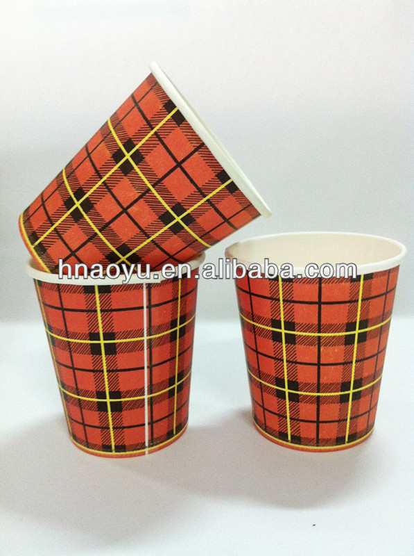 cheap paper disposable cups hot pink polka dot