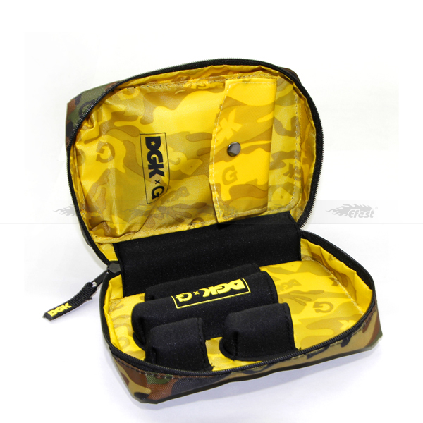 Army color Easy taking ecigs Nylon mods Cases with yellow lining for vapor from efest