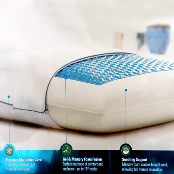 Elderly slow rebound gel memory foam best pillow