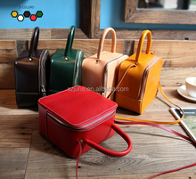 HOT Italian real leather messenger bag handbag Vintage cow leather women shoulder bag