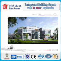 2016 Real Estate Customized Prefab Modular Houses light gauge steel building villa