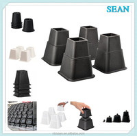 plastic Furniture Adjustable Bed Risers, Bed feet Lifts