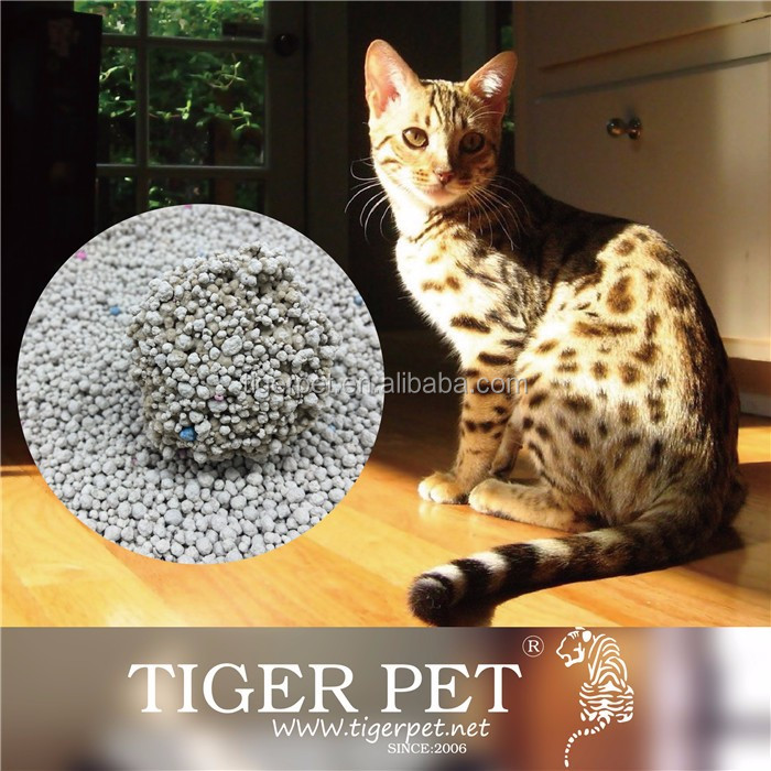 Customization available white ball type bentonite cat litter,cat litter sand
