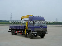 Dongfeng 8x4 truck with crane XCMG 16 ton