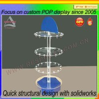 OEM design acrylic wedding cake stand with lights
