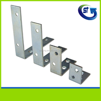 Small galvanized steel metal corner shelf brackets