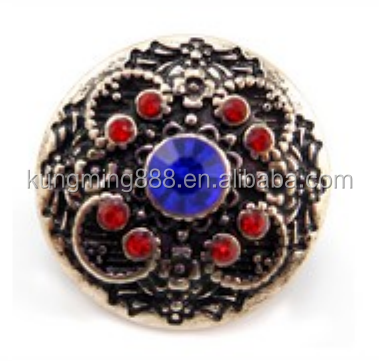 20MM Bronze Round Ginger Snap Button Jewelry Wholesale