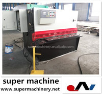 hydraulic steel sheet cutter QC12T-4x1500,pipe thread cutting machine