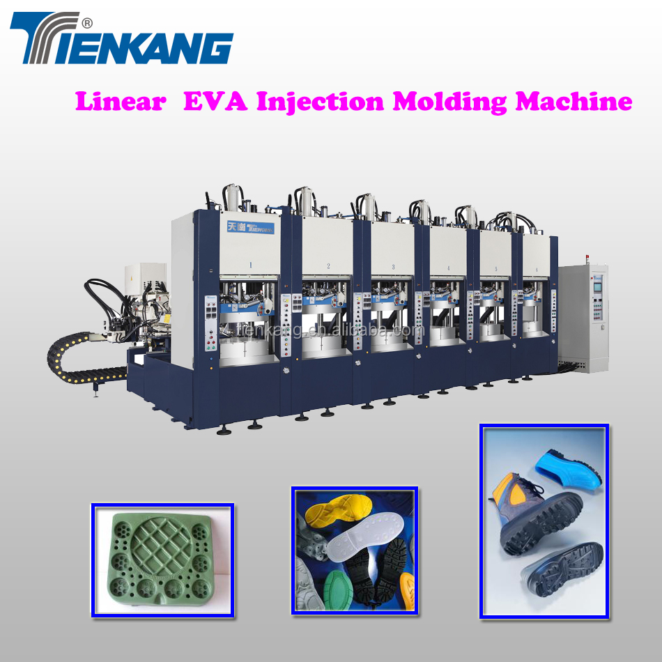 Linear EVA Injection Molding Machine (6 stations)