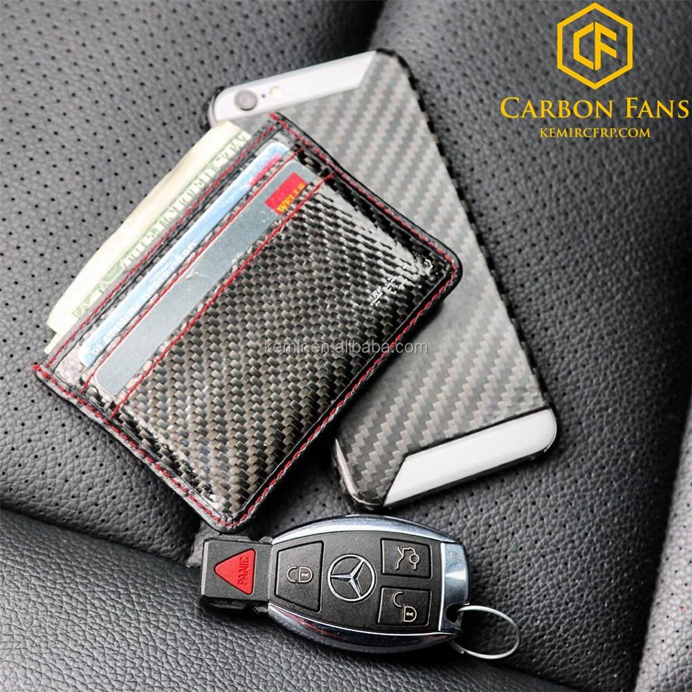 Rfid Block Real Carbon Fiber Credit Card Bag For Business Cards ...