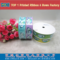High quality character printed grosgrain ribbon