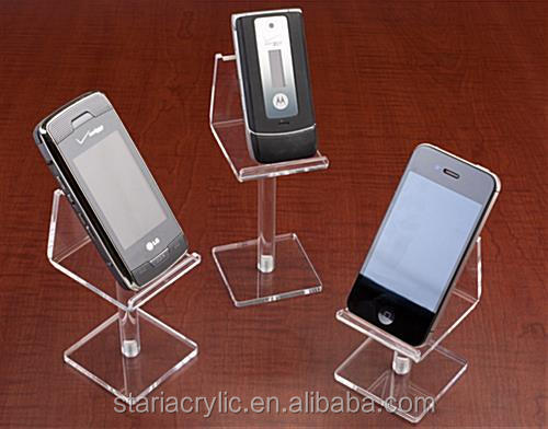 Acrylic Cell Phone Risers, Set of 3 Clear