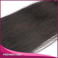 16inch wholesale high quality unprocessed fashionable brazilian hair Yaki Free shipping top closure weaves