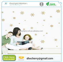 Removable Gold Snow Window Sticker Wall Decals