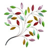Wall Decorative Multi Color Metal Leaves For Crafts