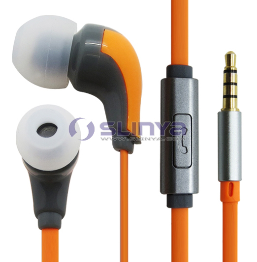 3.5MM Stereo Earphone with MIC For Mobile Phone