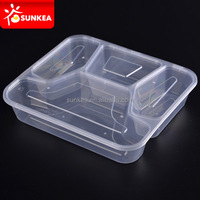 Full range transparent clear plastic food containers