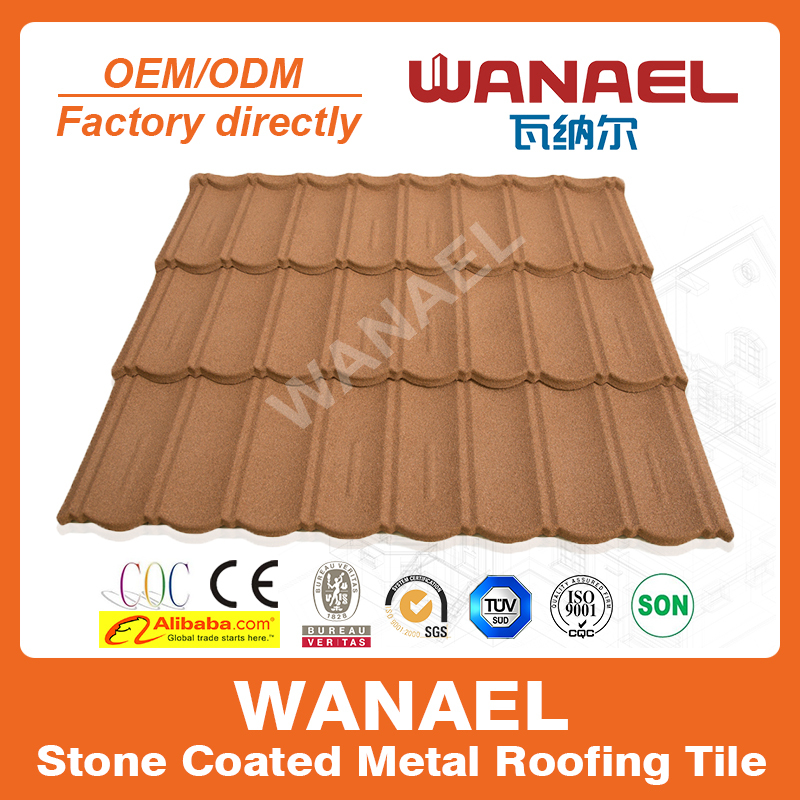 Stone coated steel roof tiles, roof materials, Shingle, substitute of ceramic coated roof tiles